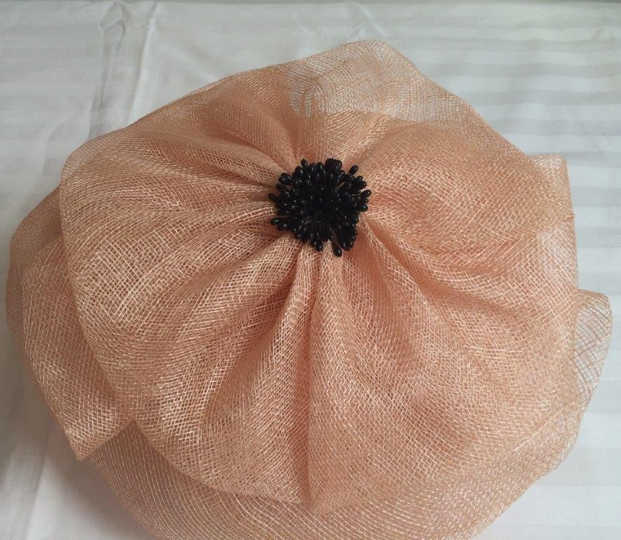 """Tami"" Beige Fascinator-Fascinators-Fascinators Direct Online-Fascinators Australia"