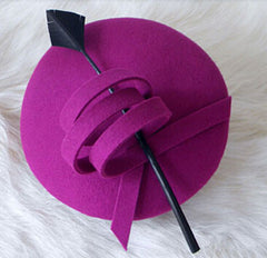 """Vanessa"" Purple and Black Vintage Fascinator-Fascinator-Fascinators Direct Online-Fascinators Australia"