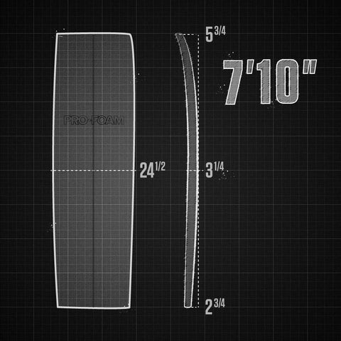"7'10"" EPS Shortboard Rocker"