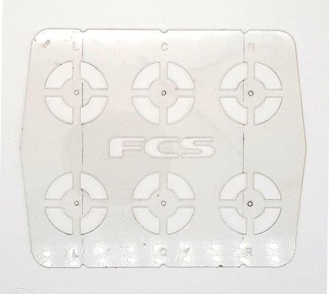 FCS Fin Marking out Template