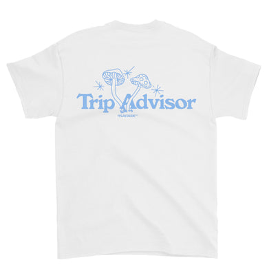 Trip Advisor Tee (White/Blue)