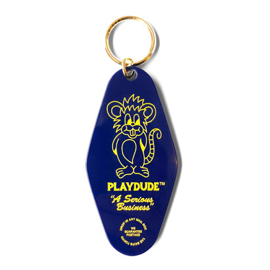 PLAYDUDE x The Skips Rat Keychain (Navy)