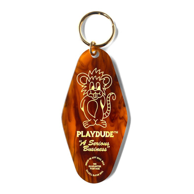 PLAYDUDE x The Skips Rat Keychain (Tortoiseshell)
