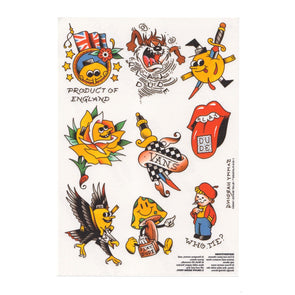 PLAYDUDE™ x Blast Skates x Vans Temporary Tattoo Sheets