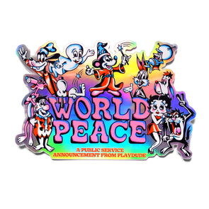 World Peace Holographic Sticker Pack