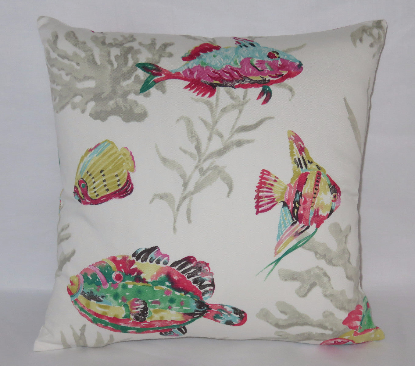 White tropical reef pillow