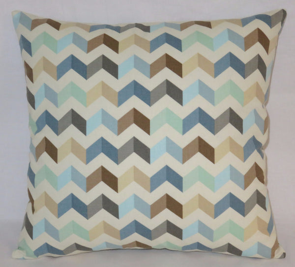 Seaglass chevron pillow
