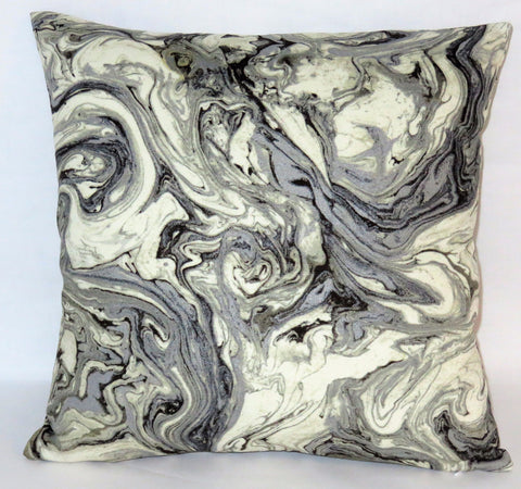 Grey marble print pillow