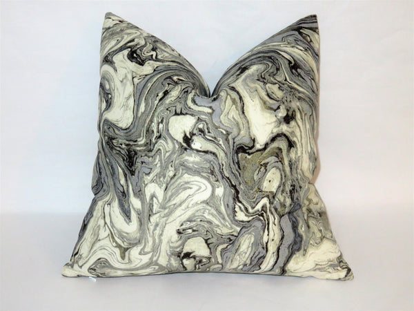 Grey Marble Pillow Cover