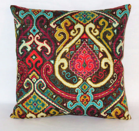 Colorful Boho Medallion Pillow