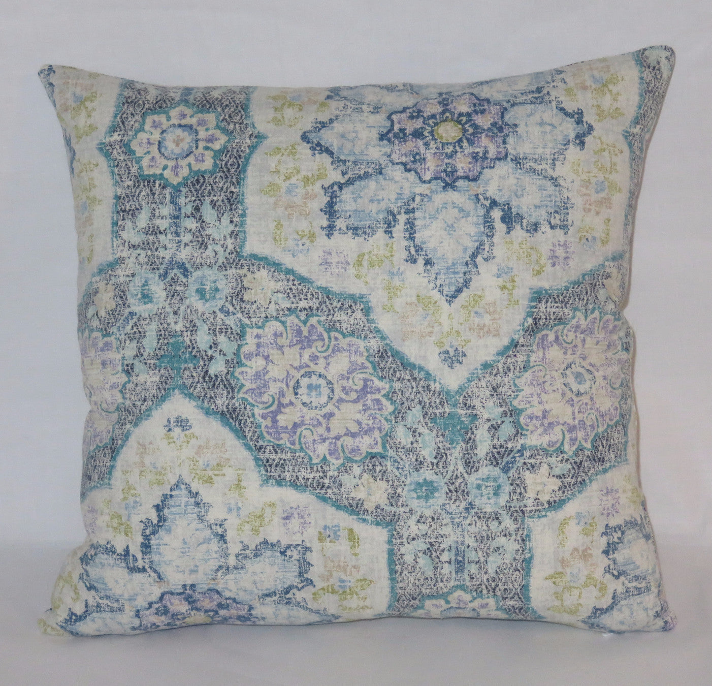 Blue Moroccan tile pillow