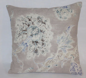Taupe floral pillow