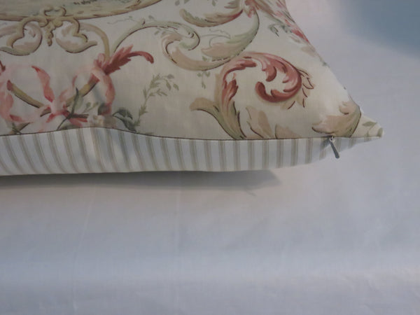 Fragonard Cameo Toile Pillow Cover in Blush, Richloom French Country Fabric