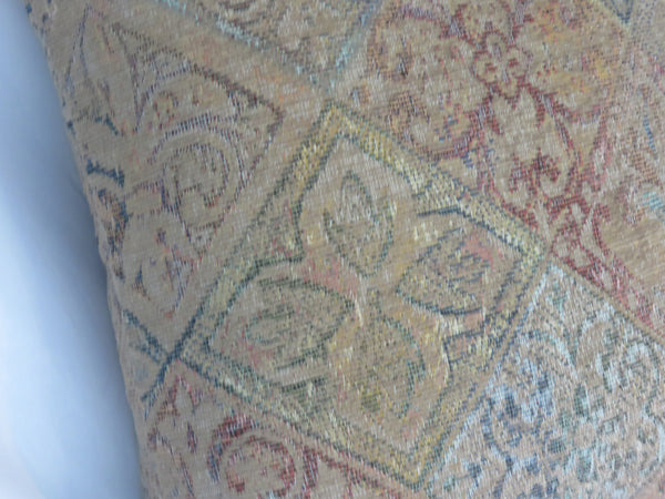 faded chenille tapestry pillow