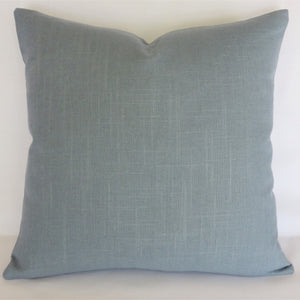 Blue Grey Solid Pillow Cover, Robert Allen Linen Slub in Slate