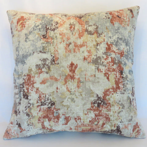 Terracotta Orange and Smokey Blue Pillow Cover, Covington Takashi