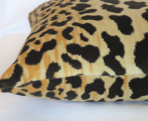 black gold leopard print pillow cover jamil