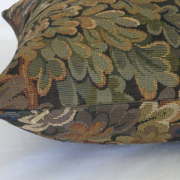 Brown, Gold and Green Trees Leaves Tapestry Pillow Cover