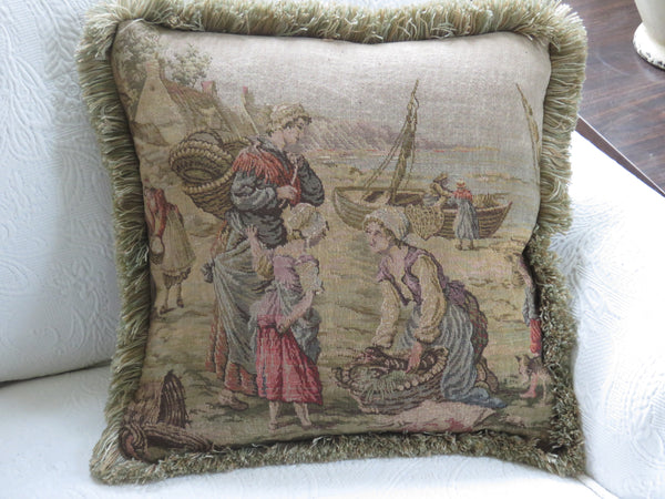 seaside tapestry pillow cover