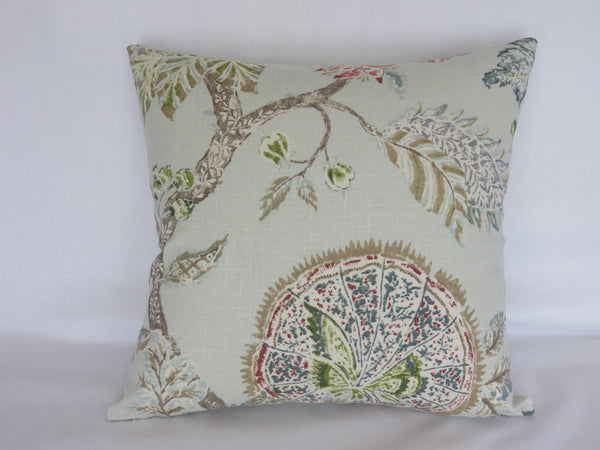 ice blue indienne floral pillow cover kaufmann retreat in citrine