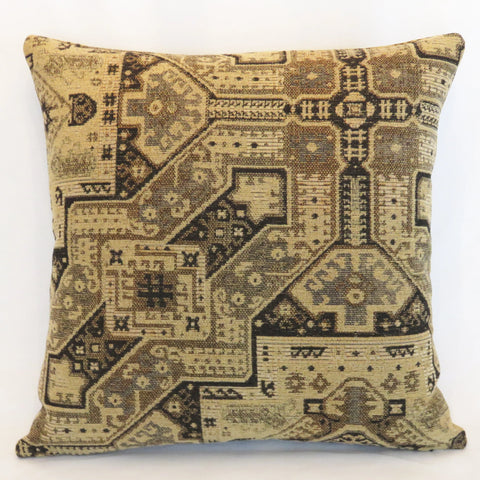 tan and black southwest aztec pillow cover