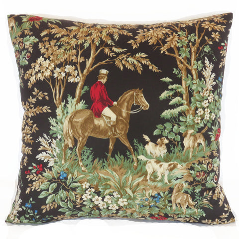 black equestrian pillow cover ralph lauren ainsworth onyx