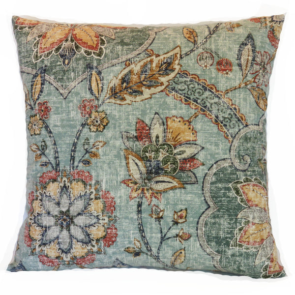 kaufmann andalucia blue pillow cover