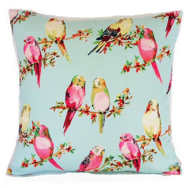 tweety parakeet pillow cover aqua