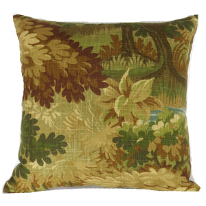 autumn verdure pillow cover scenic flora