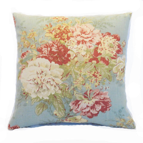 ballad bouquet robins egg pillow cover