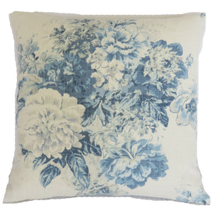 waverly ballad bouquet blue frost pillow cover