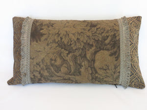 squirrel verdure tapestry lumbar pillow