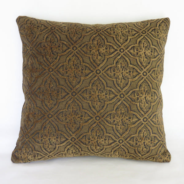 dark verdure vintage tapestry pillow