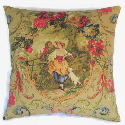 richloom fragonard gold pillow cover