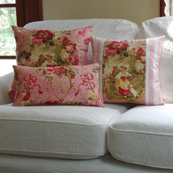 Pink French Toile Pillow Cover - Richloom Fragonard