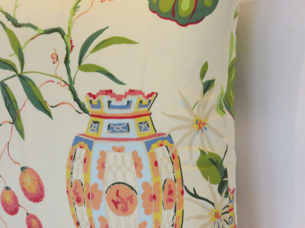 Goldfish Bowl Pillow Cover,  Colorful Thibaut flora