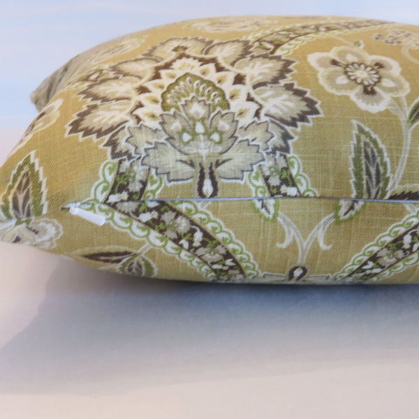 gold ogee medallion pillow cover