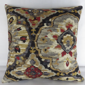 ikat medallion pillow cover belle maison zari graphite