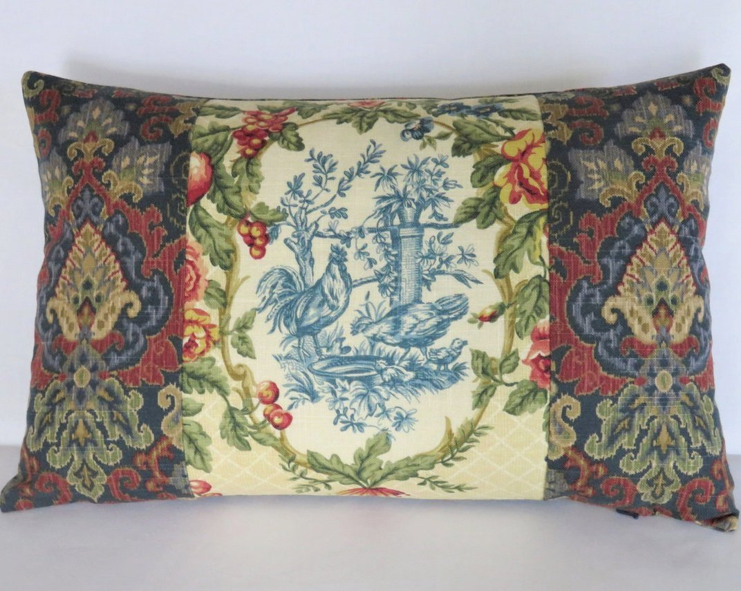 waverly saison de printemps creme pillow discontinued chicken toile