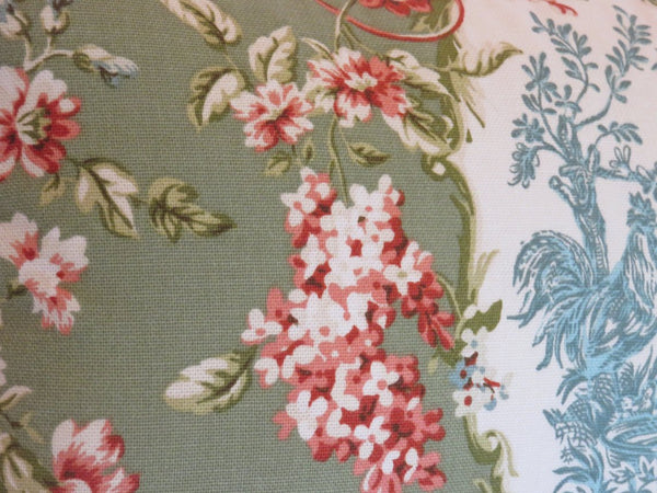 waverly sorrel green pillow rendezvous chicken toile discontinued fabric