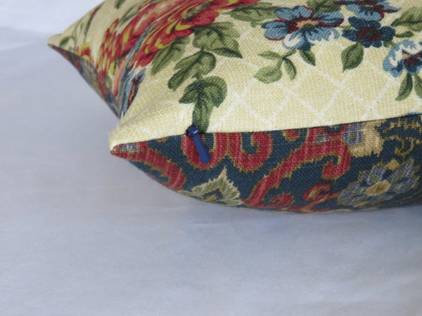 waverly saison de printemps creme rooster pillow