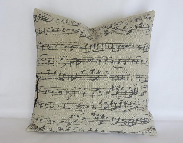 Treble Clef Music Theme Pillow Cover