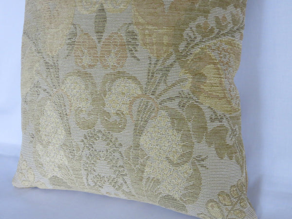 gold floral art nouveau chenille pillow