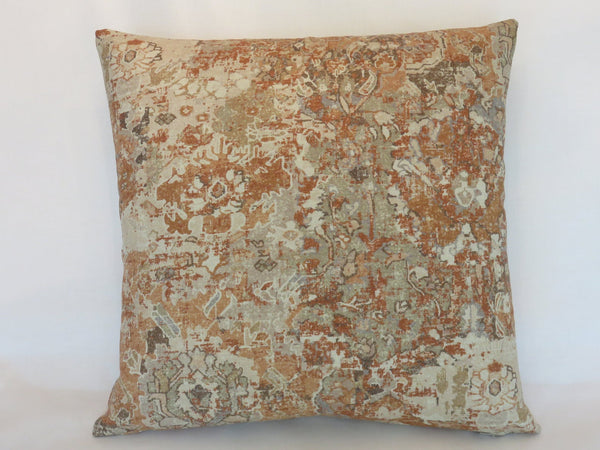 Terracotta Southwest Barkcloth Pillow Cover, Swavelle Vilpas,