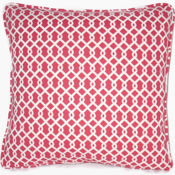 Red white waverly ellis pillow cover