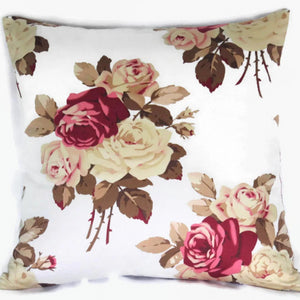 pale blue pillow cover with roses, tanya whelan print