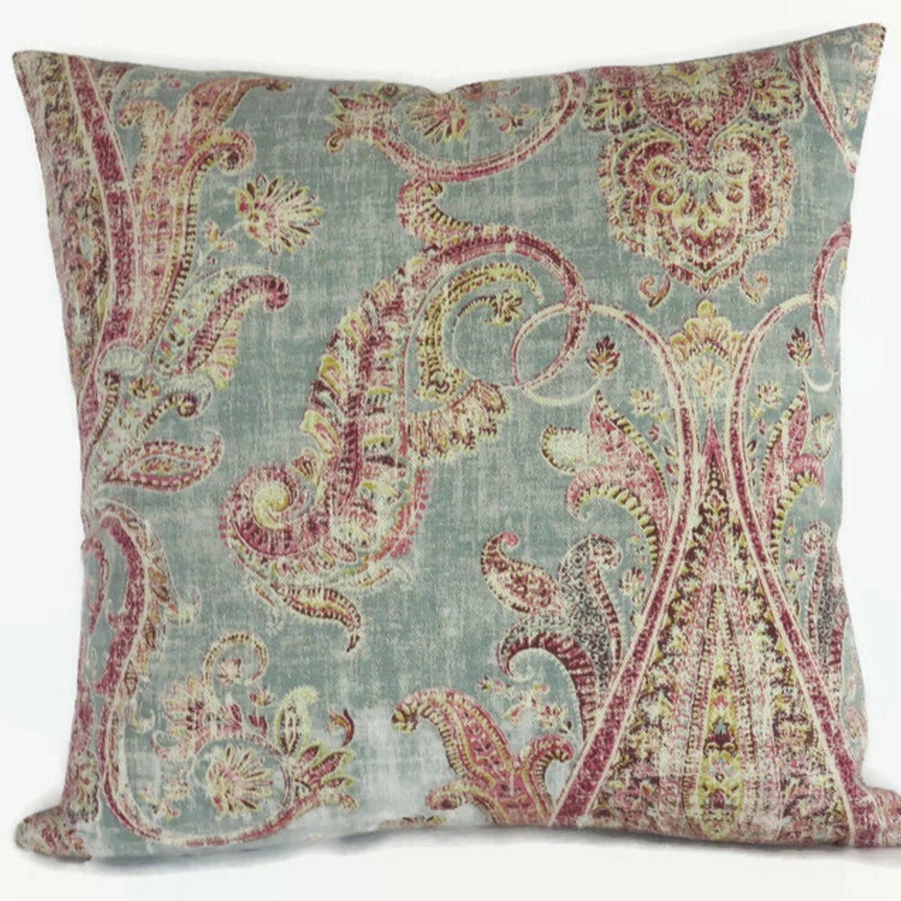 Teal & Pink Paisley Pillow Cover,  P. Kaufmann Fair Trade  Breeze