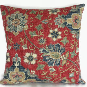 Red and Blue Medallion Pillow Cover, Covington Bettina
