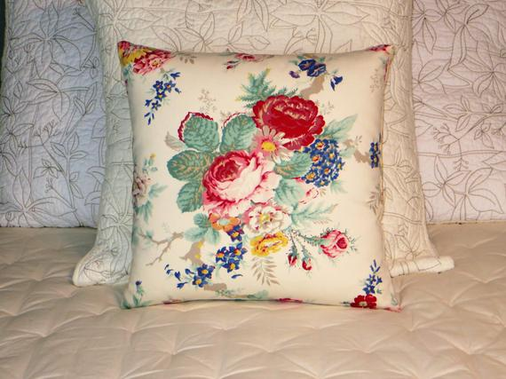 Ralph Lauren Garden Club Floral Pillow in white
