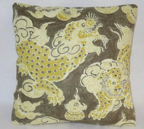 waverly dunmore dragons pillow sepia